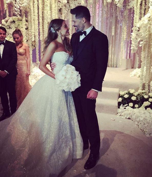Sofia and Joe at their wedding