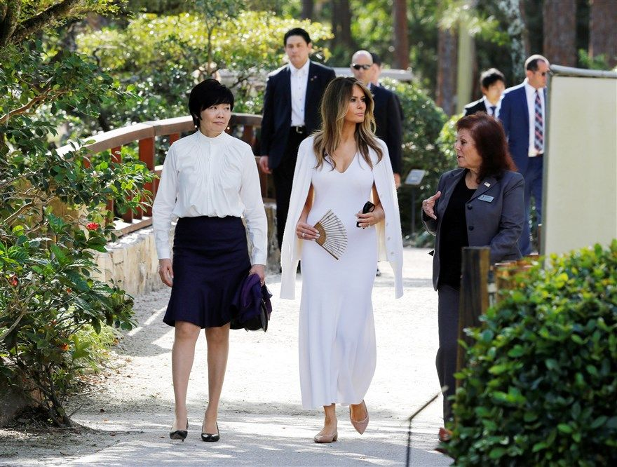 Melania on tour in Japan