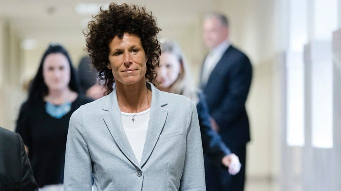 Andrea Constand making her way to court