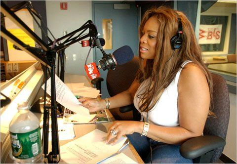Wendy Williams at a radio station