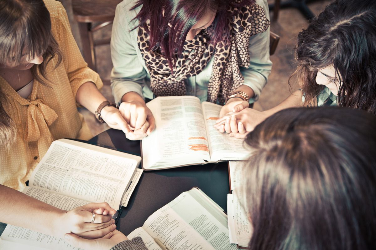 A Bible study taking place