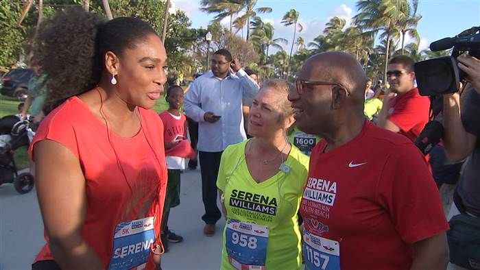 Al Roker, Serena Williams and Lori Rothman
