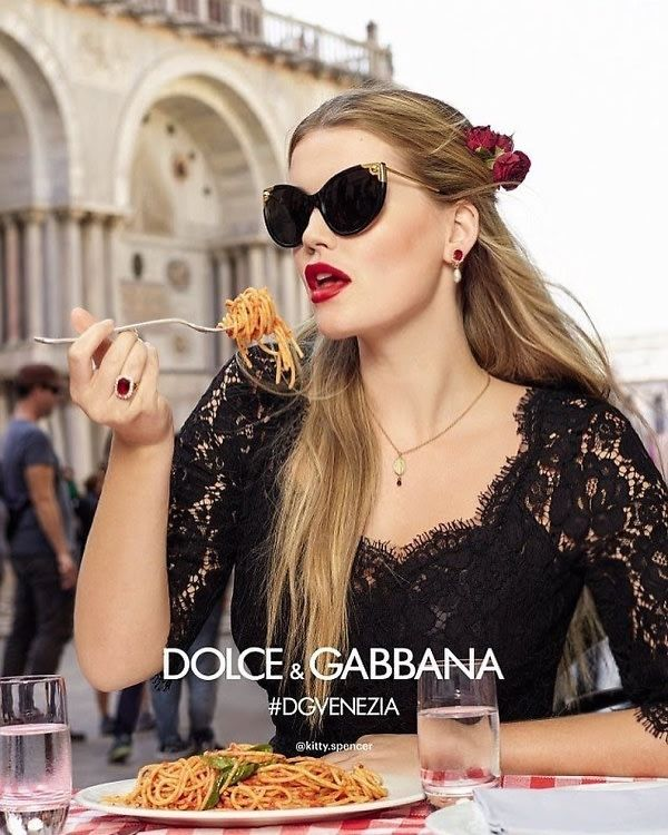 Kitty Spencer's ad for Dolce & Gabbana