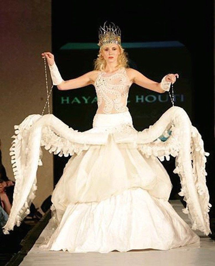 Tentacle wedding dress