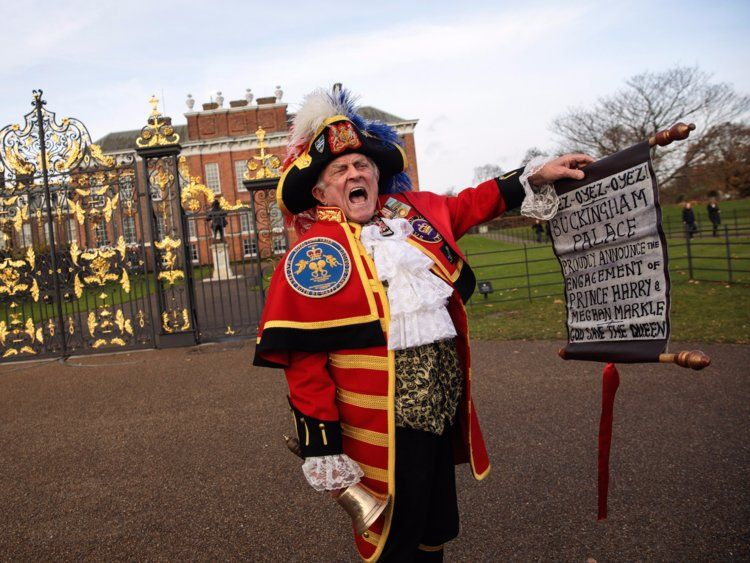 A town crier for Buckingham Palace