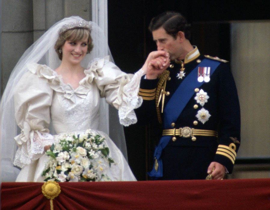 Prince Charles and Princess Diana on their wedding day