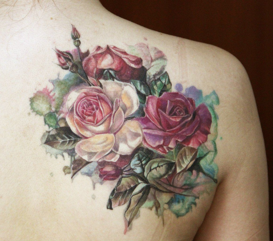 A tattoo of roses