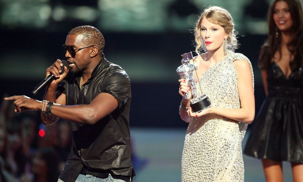 Taylor Swift and Kanye West at the VMAs