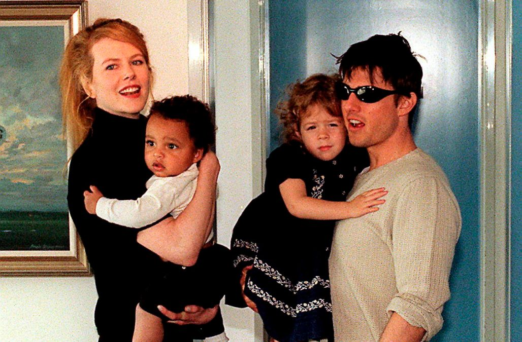 Nicole Kidman, Tom Cruise and their two children