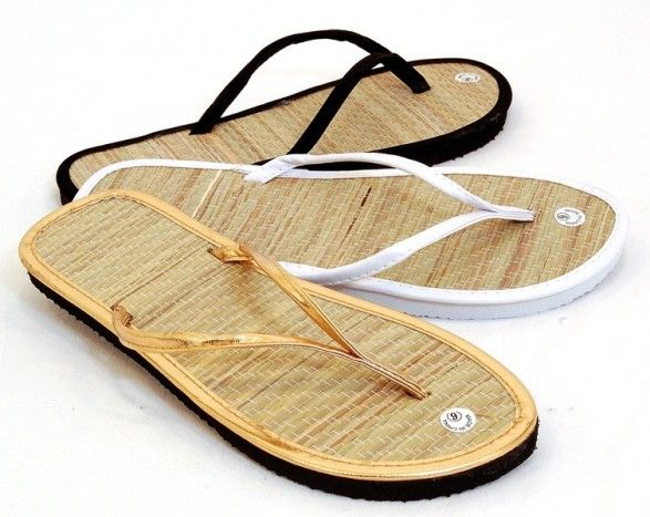Flip-flops made out of bamboo