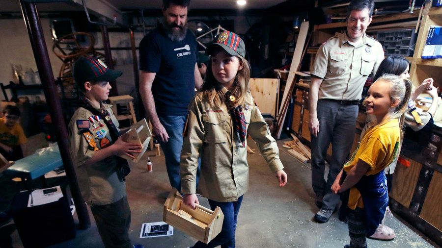 Girls joining the Boy Scouts