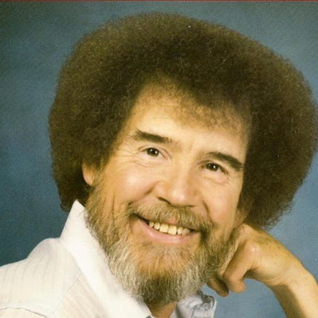 A headshot of Bob Ross