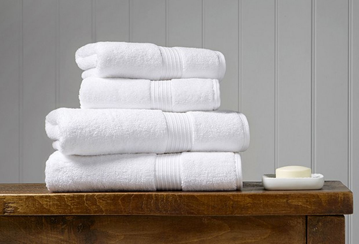 A set of towels on a table