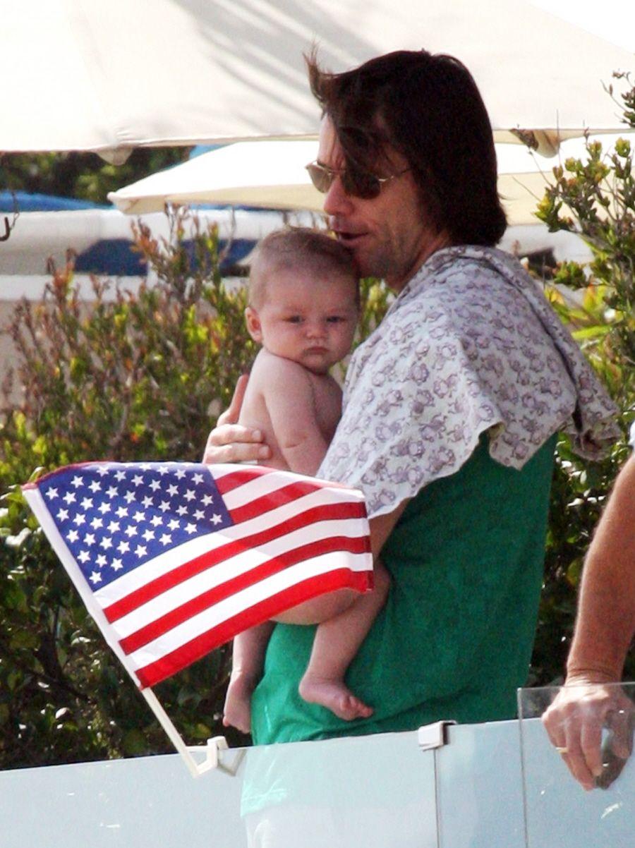 Jim Carrey and his grandson