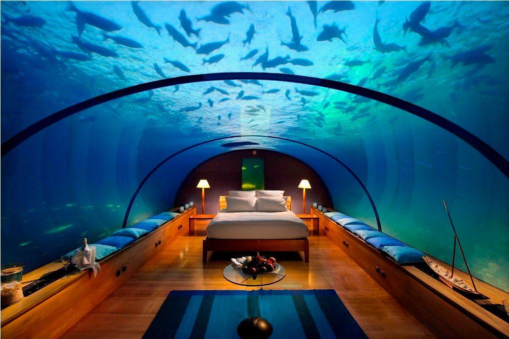 A hotel underwater