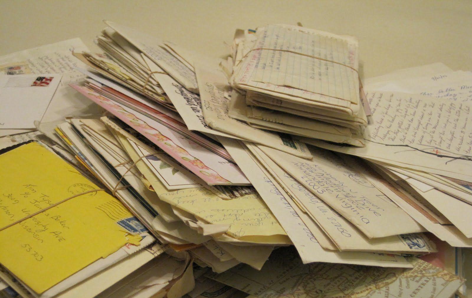 a pile of fan mail