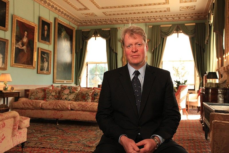 Charles Spencer, 9th Earl Spencer posing for a picture