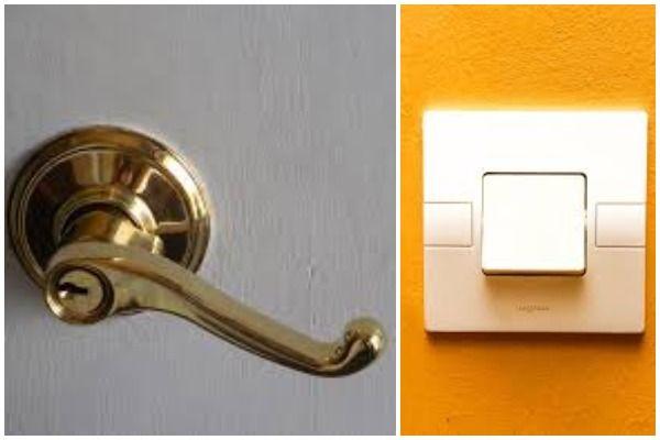 Door handles and light switches