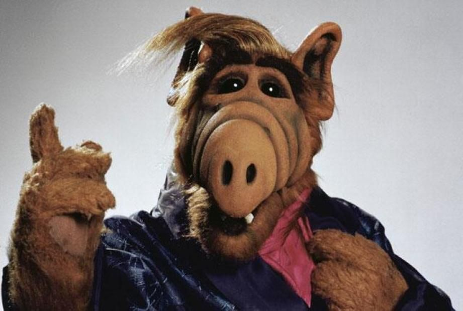 ALF dressed in a suit