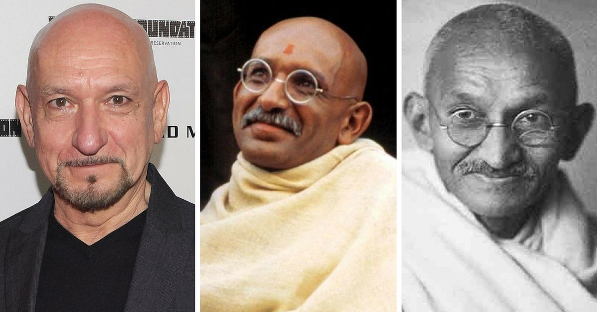 Ben Kingsley as Mohandas Gandhi