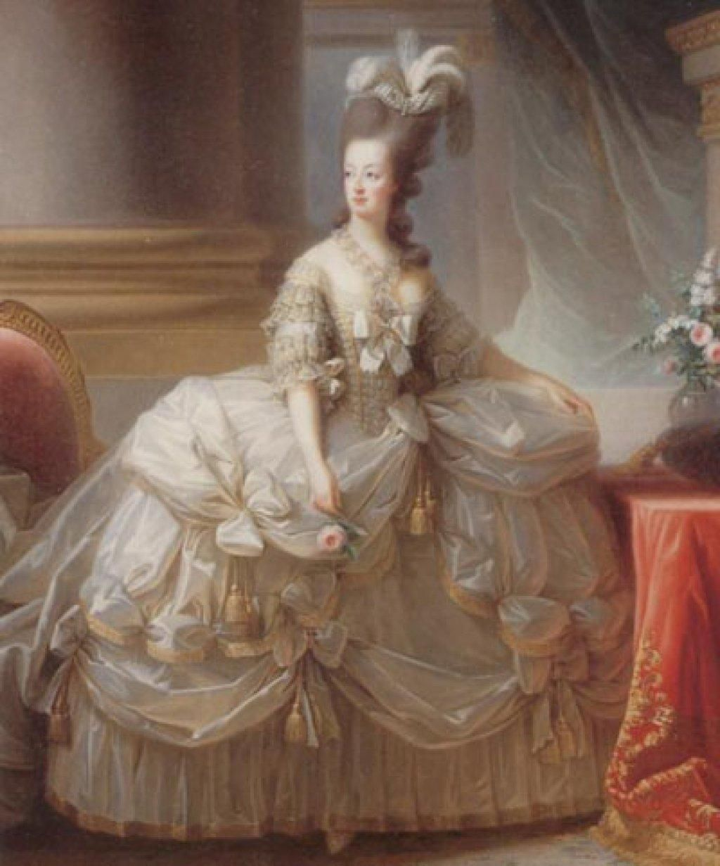 Marie Antoinette in her wedding gown