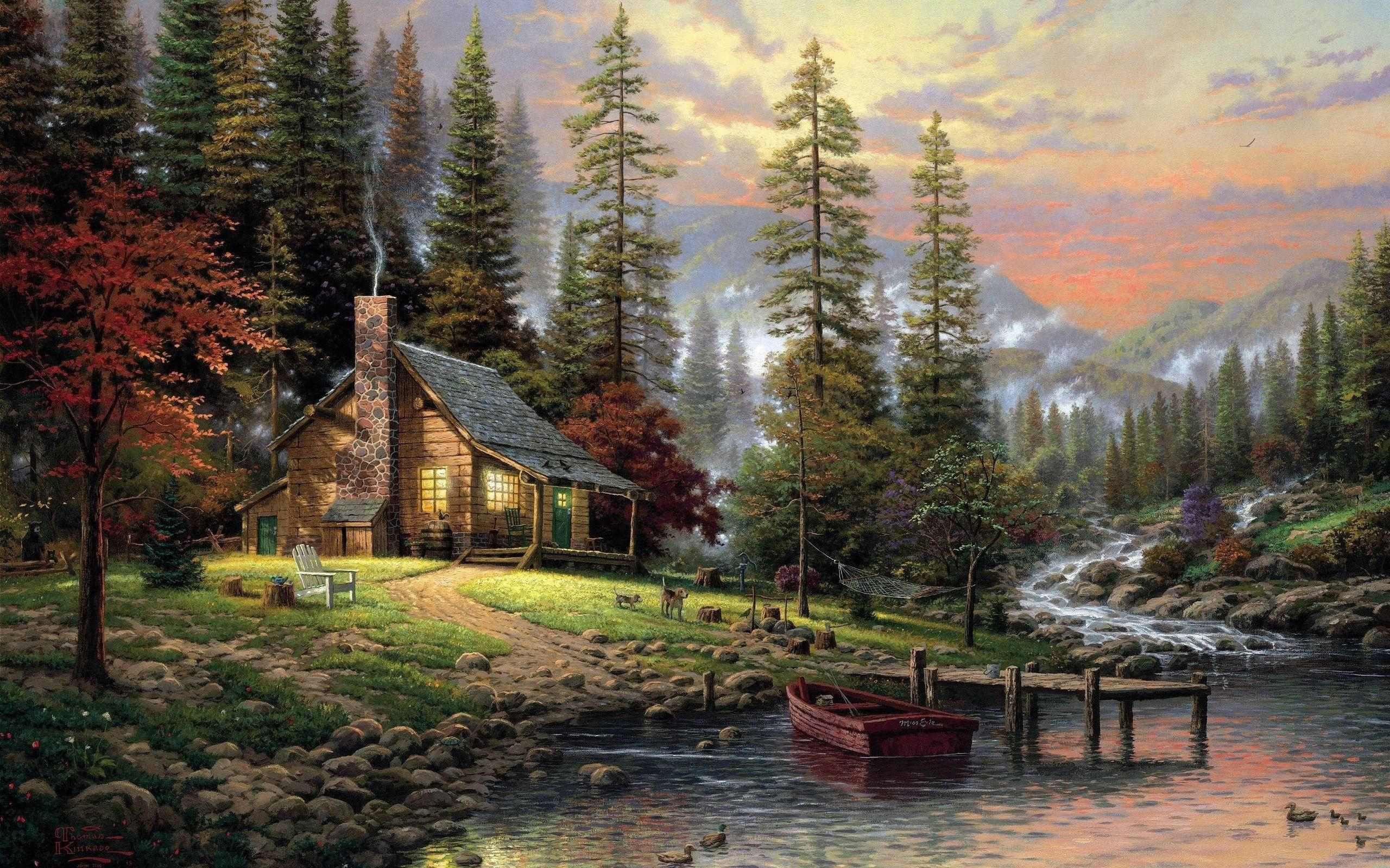 A painting by Bob Ross