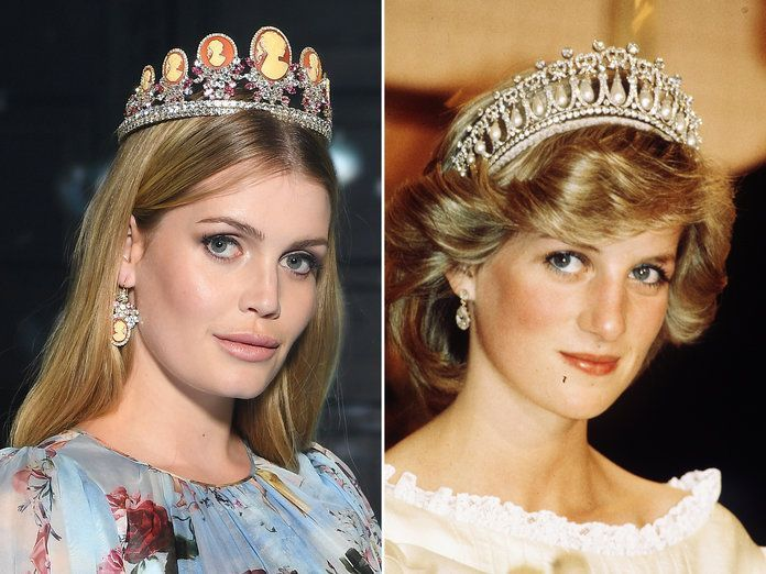 A side by side of Lady Kitty Spencer and Princess Diana