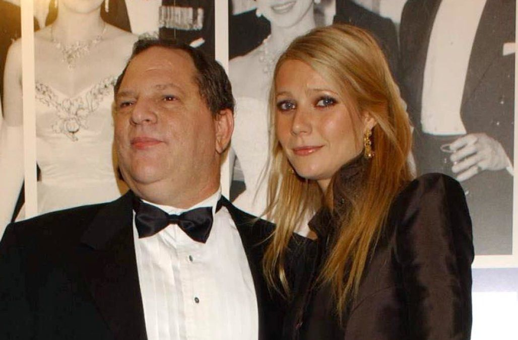 Gwyneth Paltrow and Harvey Weinstein at an awards show