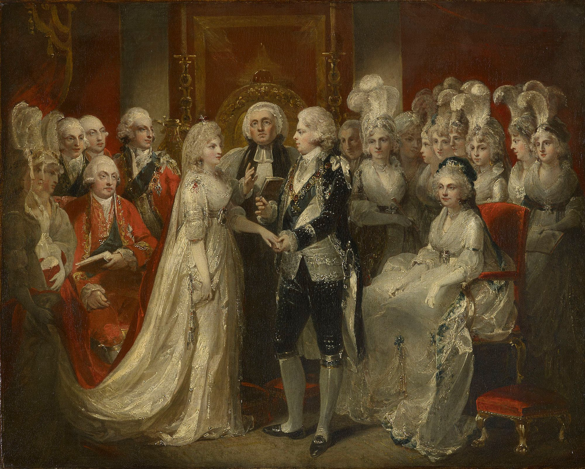 King George IV at his wedding