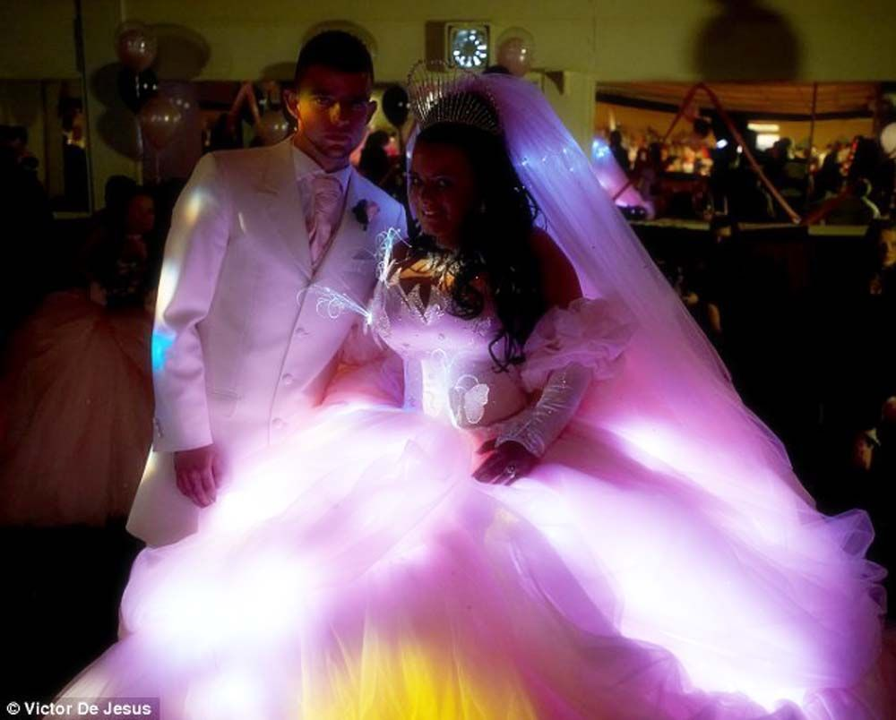 Light up wedding dress
