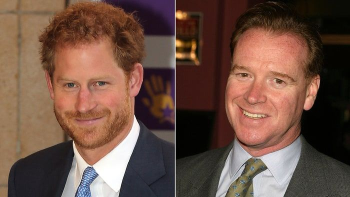 Side by side of Prince Harry and James Hewitt