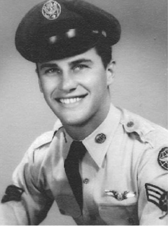 Bob Ross' military photo