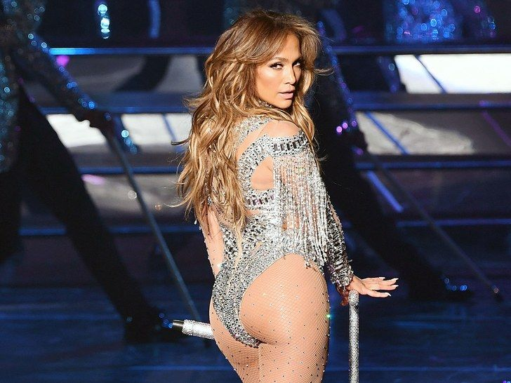 Jennifer Lopez performing on stage