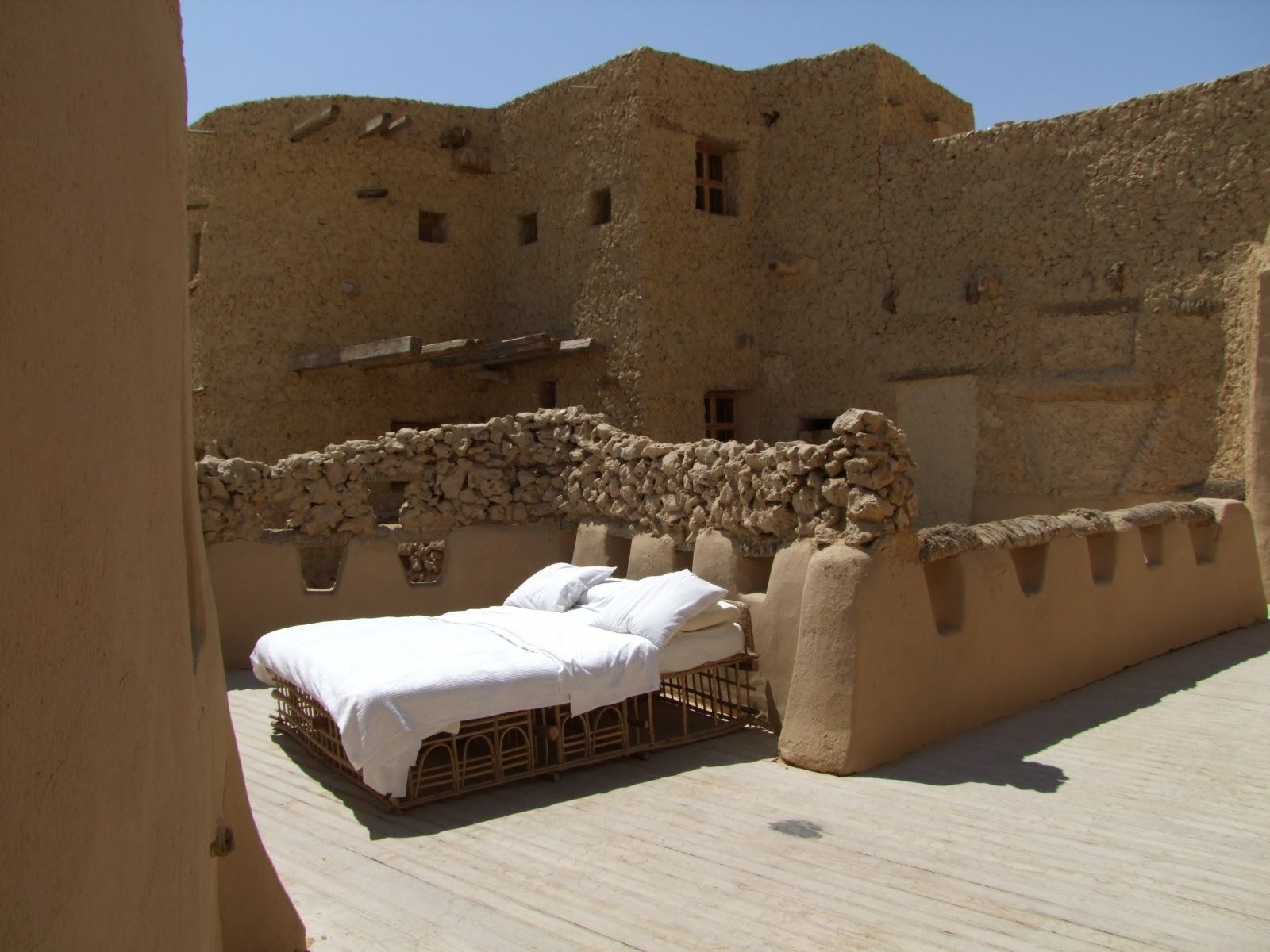One of Adrere Amellal's desert rooms