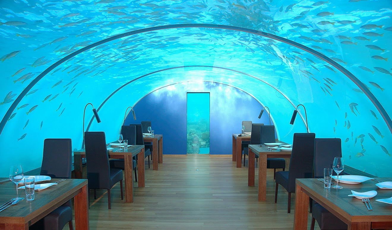 Poseidon Undersea Resort's dining room