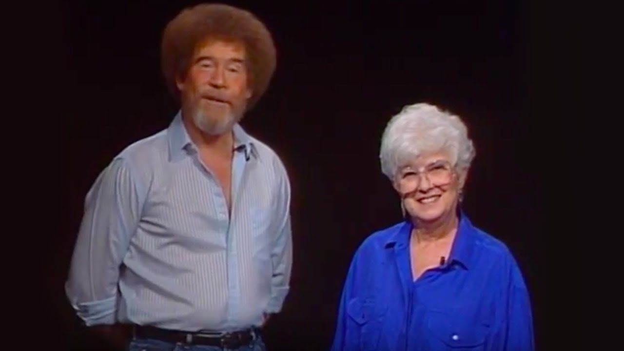 Bob Ross with his student Annette Kowalski