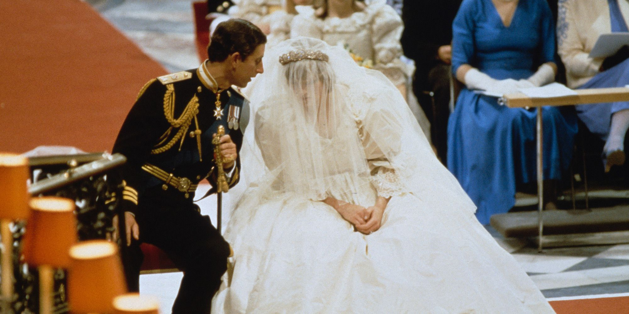 Prince Charles and Princess Diana during their wedding ceremony
