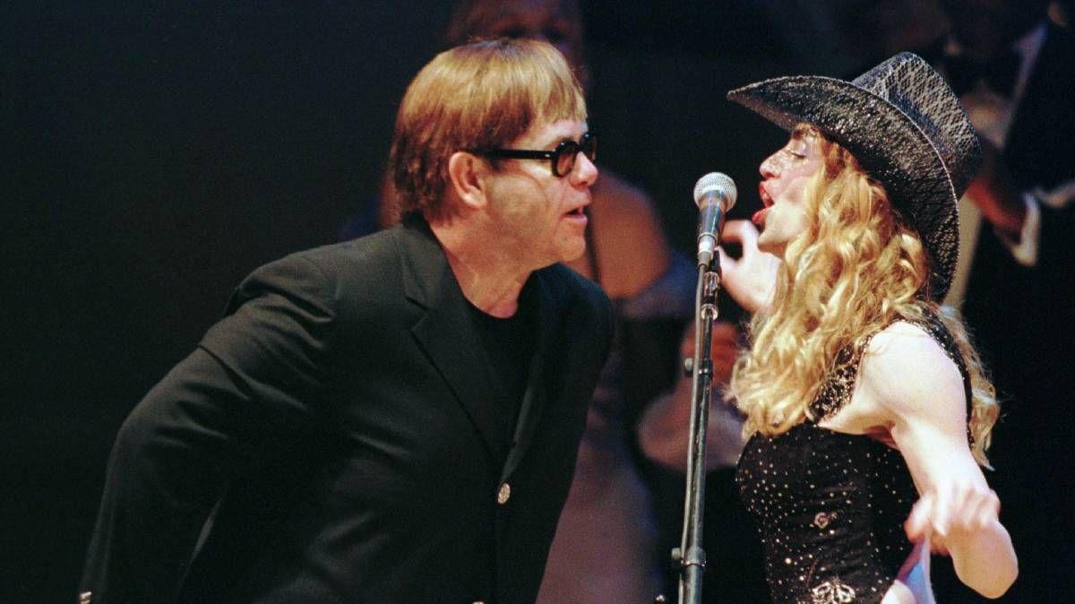 Madonna and Elton John singing