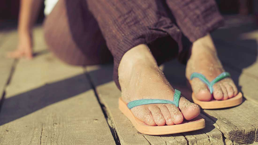 A cheap pair of flip-flops