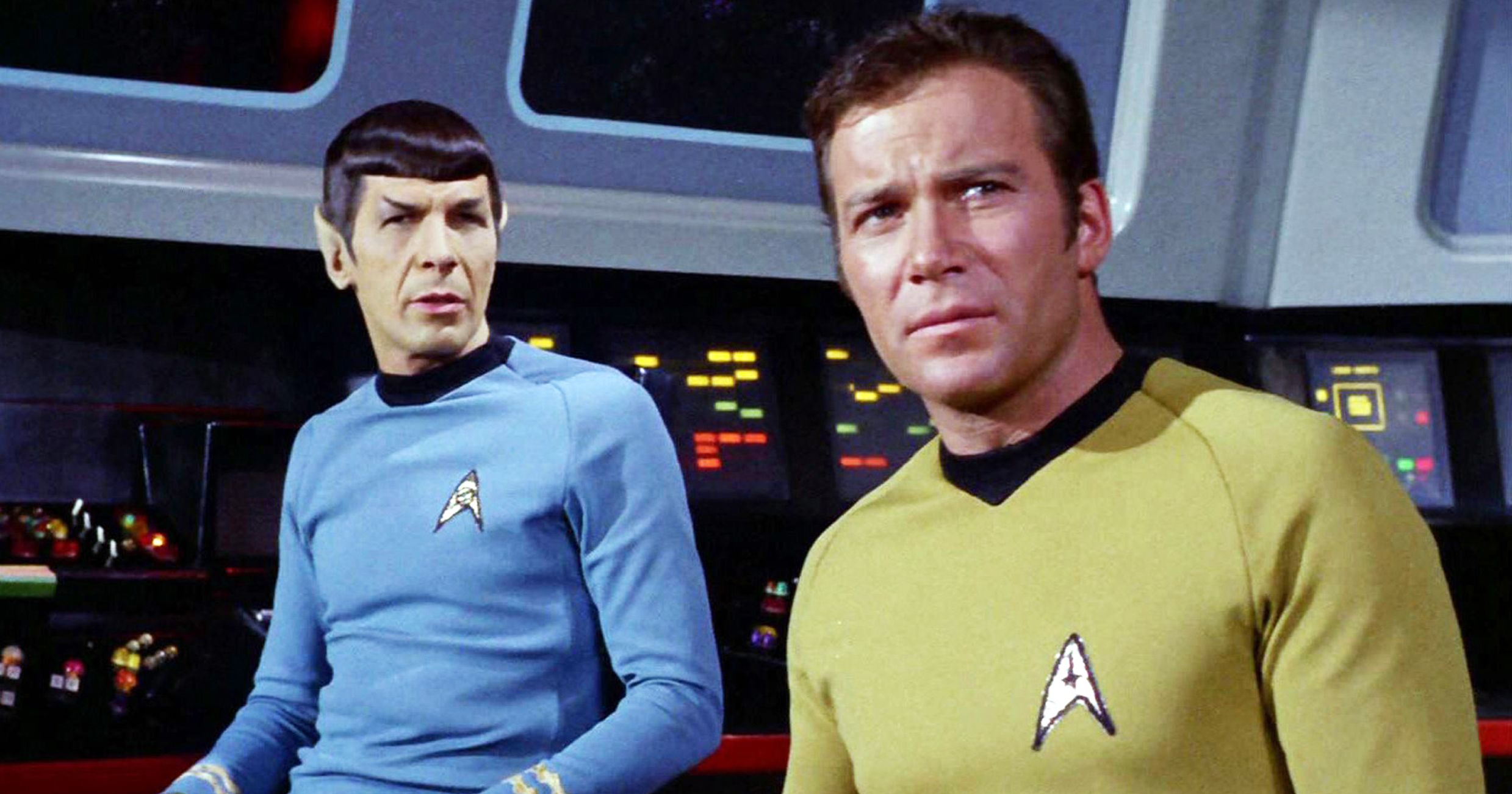 Captain Kirk and Spock on the aircraft