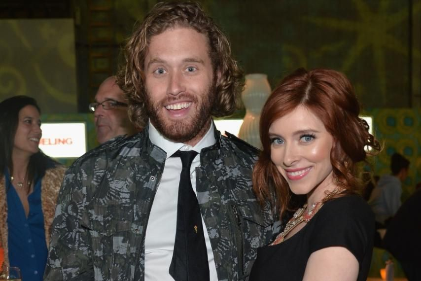T.J. Miller and his wife