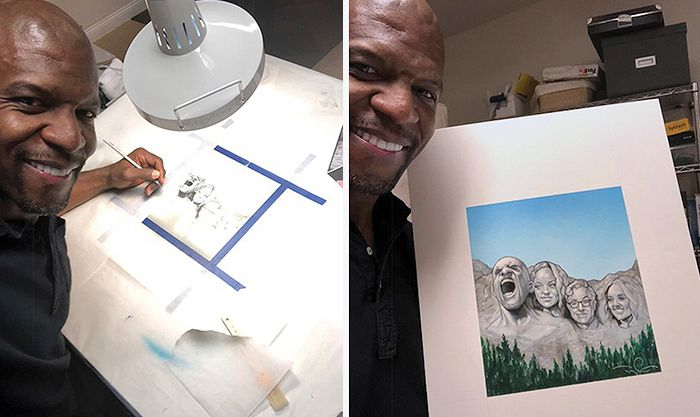 Terry Crews and his artwork