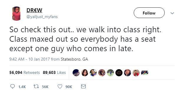 Tweet about class