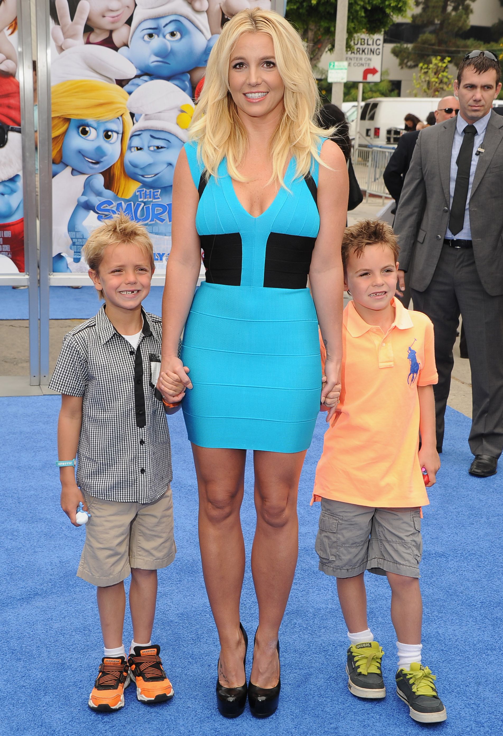 Britney Spears and her sons at 'The Smurfs' premiere