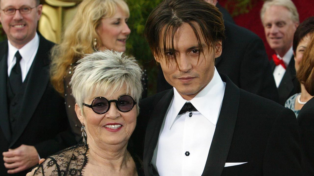 Johnny Depp and his mother Betty Sue