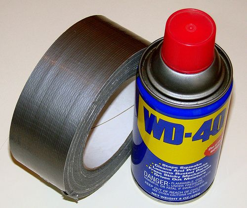 WD-40 duct tape