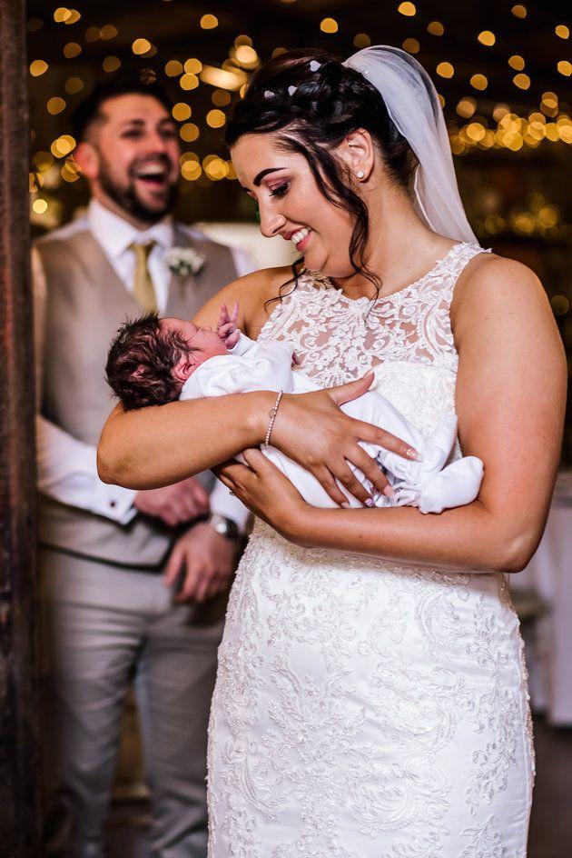 Katie holding her nephew Brody