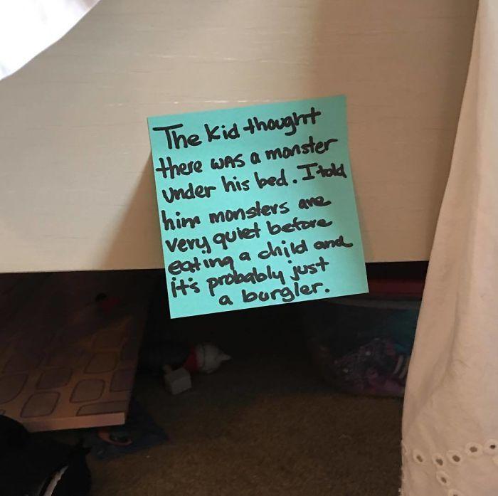 A note under a mattress