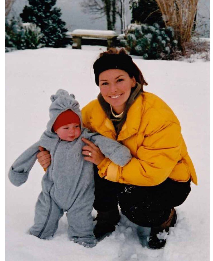 Shania Twain and son