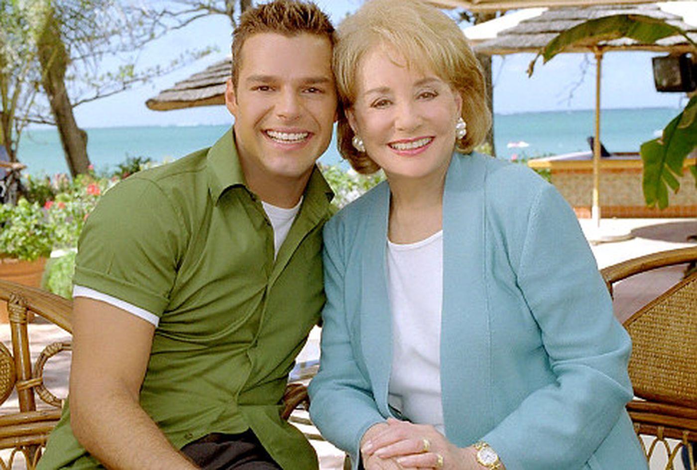 Barbara Walters and Ricky Martin